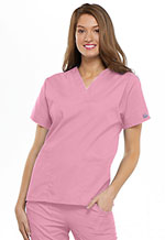 Cherokee Workwear V-Neck Top Pink Blush (4700-PKBW)