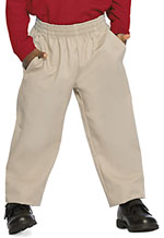 Classroom Uniforms Classroom Preschool Unisex Pull On Dbl Knee Pant in Khaki (51060-KAK)