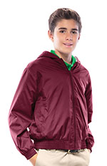 Classroom Uniforms Classroom Youth Unisex Zip Front Bomber Jacket in Burgundy (53402-BUR)