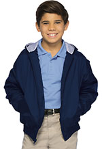 Classroom Uniforms Classroom Youth Unisex Zip Front Bomber Jacket in Navy (53402-NAVY)