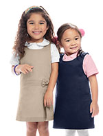 Classroom Uniforms Classroom Preschool Girls Zig-Zag Jumper in Khaki (54220-KAK)