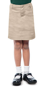 Classroom Uniforms Classroom Girls Stretch Fly Front Scooter in Khaki (55642-KAK)