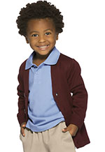 Classroom Uniforms Classroom Youth Unisex Cardigan Sweater in Burgundy (56432-BUR)