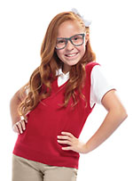 Classroom Uniforms Classroom Youth Unisex V- Neck Sweater Vest in Red (56912-RED)