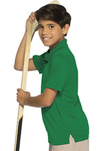 Classroom Uniforms Classroom Youth Unisex Moisture-Wicking Polo Shirt in SS Kelly Green (58602-SSKG)