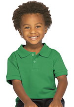 Classroom Uniforms Classroom Preschool Unisex Short Sleeve Pique Polo in SS Kelly Green (58990-SSKG)