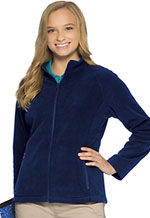 Classroom Uniforms Classroom Junior Fitted Polar Fleece Jacket in Dark Navy (59104-DNVY)