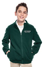 Classroom Uniforms Classroom Youth Unisex Polar Fleece Jacket in Hunter Green (59202-HUN)