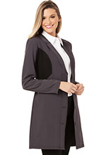 Photograph of Careisma Fearless Women's 33 Lab Coat Gray CA306-PEBK