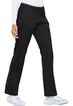 Photograph of Cherokee Luxe Sport Women's Mid Rise Straight Leg Pull-on Pant Black CK003-BLKV