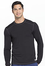 Cherokee Men's Long Sleeve Underscrub Knit Top Black (CK650A-BAPS)