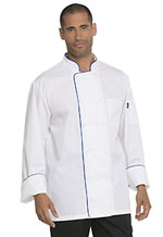 Photo of Unisex Cool Breeze Chef Coat with Piping