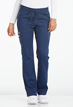 Photo of Mid Rise Straight Leg Drawstring Pant