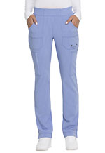 Dickies Advance Solid Tonal Twist Mid Rise Tapered Leg Pull-on Pant in Ciel Blue (DK195-CIE)