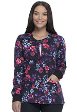 Dickies Prints Snap Front Warm-Up Jacket in Blooming Twilight (DK306-BGTH)