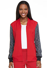 Dynamix Zip Front Warm-up Jacket (DK350-RED) (DK350-RED)