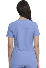 Photograph of Dickies Retro Mock Wrap Top in Ciel Blue
