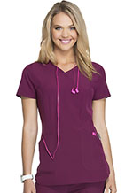 HeartSoul Cross My Heart Mock Wrap Top Wine (HS619-WINH)