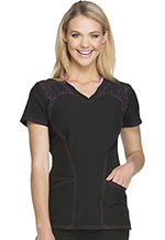 HeartSoul Spot Of Hope V-Neck Top Spot Of Hope Black (HS620-WHBY)