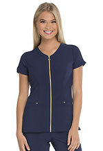 "Photo of ""Amorous"" Zip Front V-Neck Top"