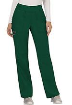 Cherokee Workwear Mid Rise Straight Leg Pull-on Pant Hunter Green (WW110-HUN)