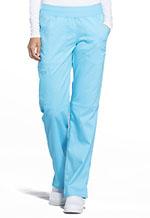 Cherokee Workwear Mid Rise Straight Leg Pull-on Pant Turquoise (WW110-TRQ)