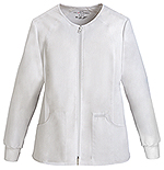 Photo of Zip Front Knit Panel Warm-Up Jacket