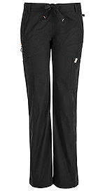 Code Happy Bliss Low Rise Straight Leg Drawstring Pant Black (46000ABT-BXCH)