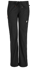 Code Happy Bliss Low Rise Straight Leg Drawstring Pant Black (46000AT-BXCH)