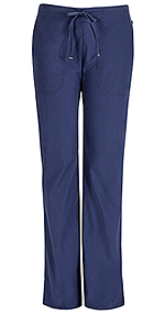 Code Happy Bliss Mid Rise Moderate Flare Drawstring Pant Navy (46002AT-NVCH)