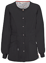 Code Happy Bliss Snap Front Warm-up Jacket Black (46300AB-BXCH)
