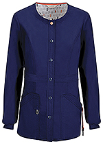 Code Happy Bliss Snap Front Warm-up Jacket Navy (46300AB-NVCH)