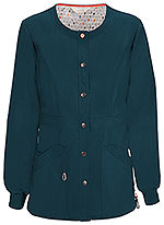 Code Happy Bliss Snap Front Warm-up Jacket Caribbean Blue (46300A-CACH)