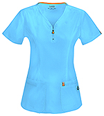 Code Happy Bliss V-Neck Top Turquoise (46600A-TQCH)