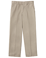 "Classroom Uniforms Classroom Men's Flat Front Pant 30"" Inseam in Khaki (50364S-KAK)"