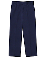 "Classroom Uniforms Classroom Men's Tall Flat Front Pant 35"" Inseam in Dark Navy (50364T-DNVY)"
