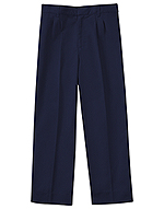 Classroom Uniforms Classroom Boys Adj. Waist Pleat Front Pant in Dark Navy (50772-DNVY)