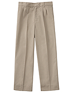 Classroom Uniforms Classroom Boys Adj. Waist Pleat Front Pant in Khaki (50772-KAK)