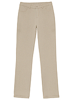 Classroom Uniforms Classroom Girls Ponte Tapered Leg Pant in Khaki (51142AZ-KAK)