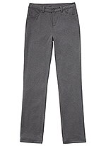 Classroom Uniforms Classroom Girls Ponte Tapered Leg Pant in Heather Gray (51143AZ-HGRY)