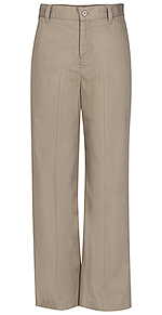 Photo of Girls Adj. Waist Flat Front Trouser