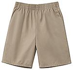 Classroom Uniforms Classroom Unisex Husky Pull-On Short in Khaki (52133-KAK)