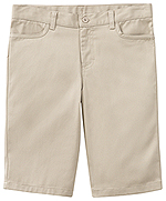 "Classroom Uniforms Classroom Juniors Stretch ""Matchstick"" Short in Khaki (52224-KAK)"