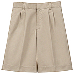 Classroom Uniforms Classroom Boys Adj. Waist Pleat Front Short in Khaki (52772-KAK)