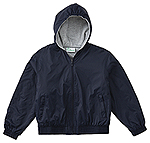 Classroom Uniforms Classroom Toddler Hooded Bomber Jacket in Navy (53400R-NAVY)