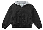 Classroom Uniforms Classroom Youth Unisex Zip Front Bomber Jacket in Black (53402-BLK)