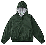 Classroom Uniforms Classroom Adult Unisex Zip Front Bomber Jacket in Hunter Green (53404-HUN)