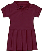 Classroom Uniforms Classroom Toddler S/S Pique Polo Dres in Burgundy (54120-BUR)