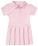 Classroom Uniforms Classroom Preschool Pique Polo Dress in Pink (54120-PINK)