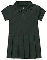 Classroom Uniforms Classroom Preschool Pique Polo Dress in SS Hunter Green (54120-SSHN)